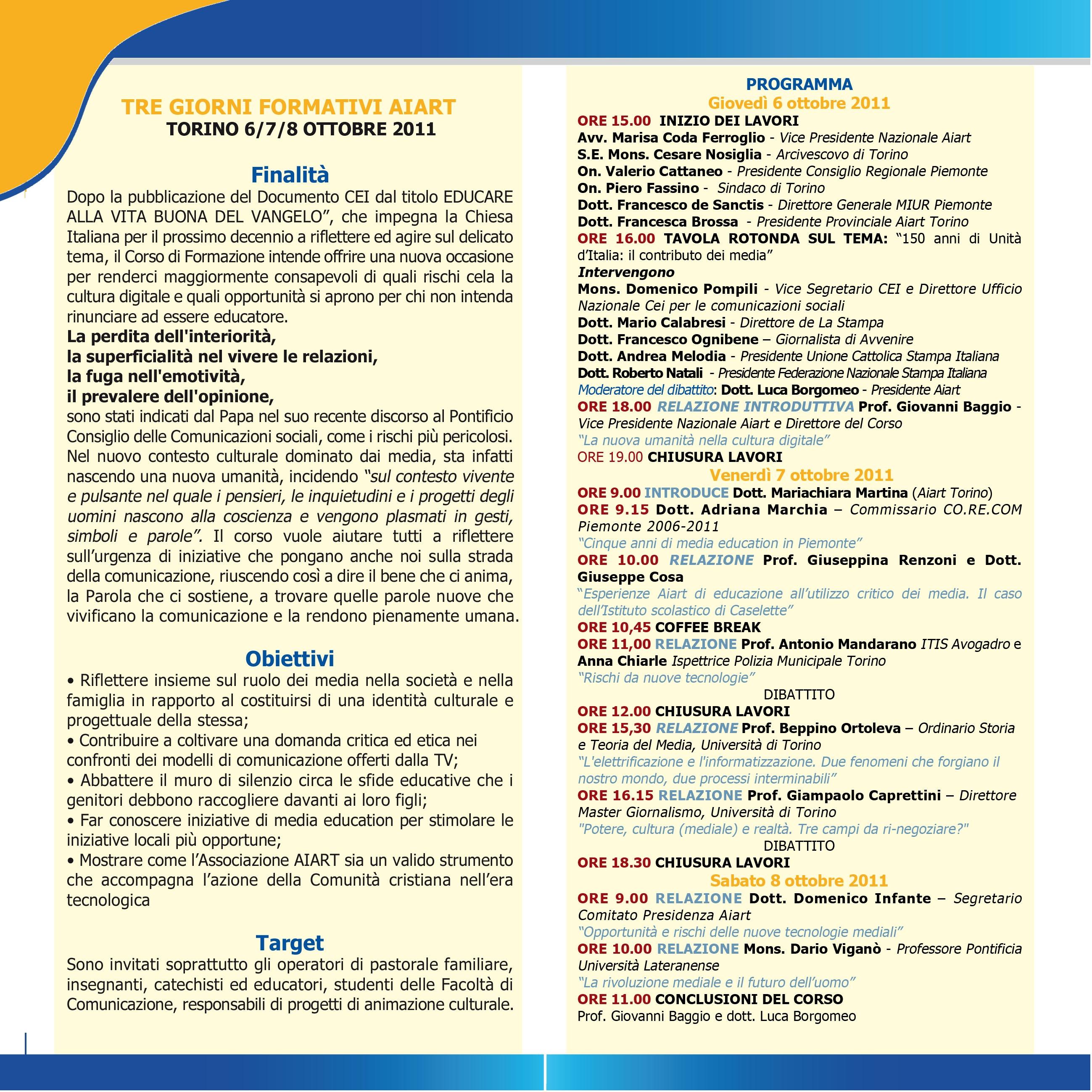 Programma-invito corso Torino - interno Programma-invito corso Torino - interno